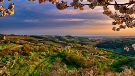 Landscapes Branch Collio Taly Valley Evening April Color Lombardy Spring Desktop Backgrounds Nature Free 1920x1080
