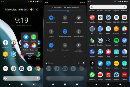 Android 9.0 permitirá activar el modo oscuro en el Pixel Launcher a través de los ajustes rápidos