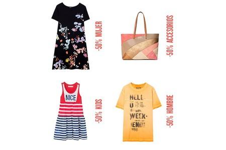 50% de descuento en Desigual en más de 500 prendas y accesorios para hombre, mujer y niño. Envío gratis