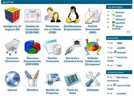 OpenPyme, catálogo de aplicaciones de software libre especializado en la pyme