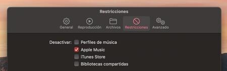 Apple Musica Mac Preferencias Restricciones