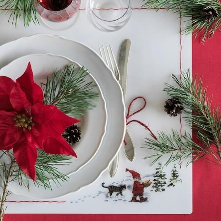 Vinter 2020 Mantel Individual Motivo Santa Claus Blanco Rojo 0824781 Pe776204 S5