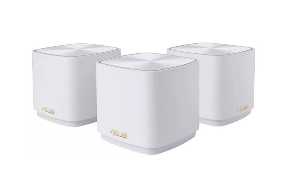 Router inalámbrico - Asus ZenWiFi Mesh AX1800, Pack de 3, 1800 Mbps, 2 puertos Ethernet, WiFi 6, Doble Banda