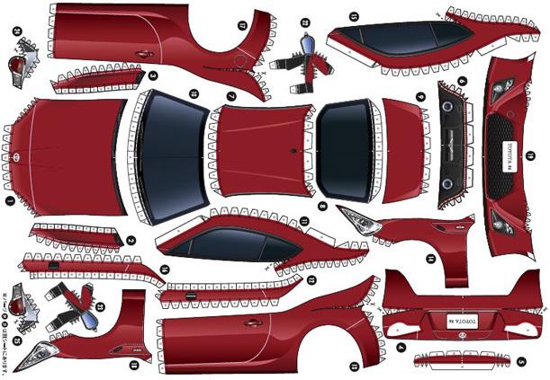 Toyota GT 86 recortable Gazoo Racing