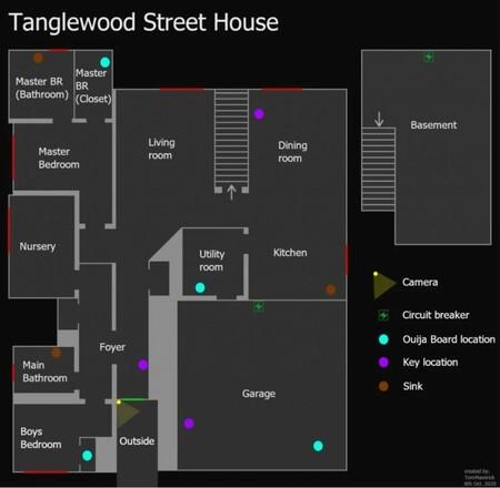 Mapa Tanglewood