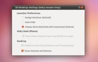 """Cómo mantener el lanzador de Unity visible y añadir un botón de """"Mostrar escritorio"""" en Natty"""