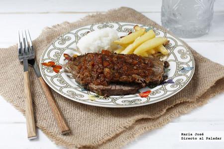 Receta de carne estofada con hortalizas