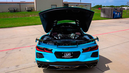 Adiós al motor atmosférico: LMR convierte al Chevrolet Corvette C8 en una bestia biturbo de 1.217 CV