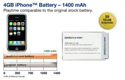 Baterías de repuesto para el iPhone