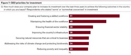 PWC CEO priorities for investment 2013