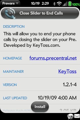 Finaliza llamadas cerrando el teclado de la Pre