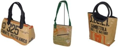 Bolsas de sacos de cemento reciclados