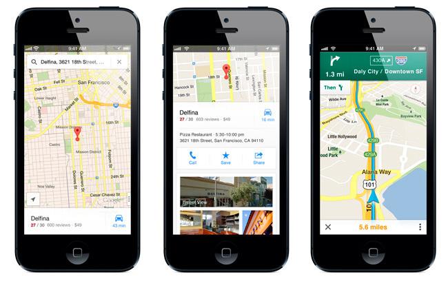 Nuevos mapas Google para iOS