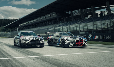 BMW M4 Coupé y M4 GT3 2021, teaser