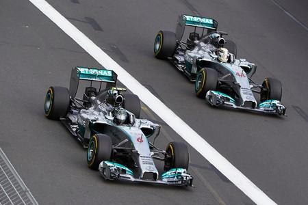 Rosberg Hamilton F1 2014