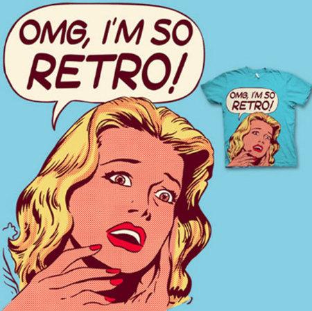 Camiseta 'OMG, I'm so retro' de La Fraise