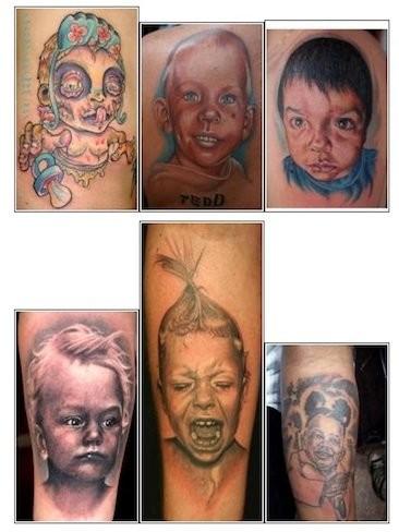 Los tatuajes más horribles de bebés