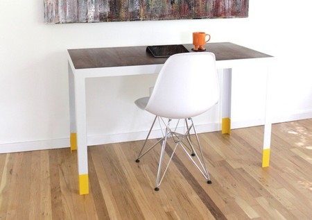 Una buena idea: goma en las patas de los muebles de acero