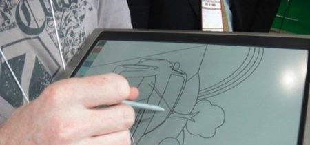 Aerobee de Bridgestone, papel electrónico a color para los tablets