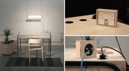 Unplugged, la mesa de trabajo autosuficiente de Eddi Törnberg