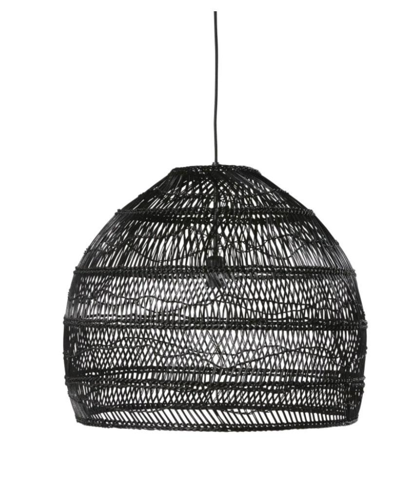 WILD- Lámpara de techo de mimbre trenzado negro D.60  169,00 €