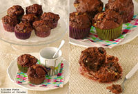 Receta de muffins de triple chocolate