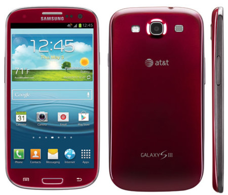 Galaxy SIII versión Garnet Red AT&T