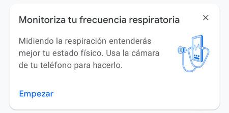 Google Fit Frecuencia Respiratoria