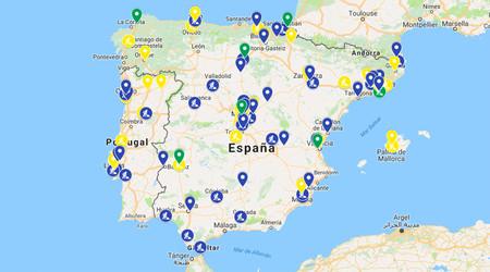 Estaciones de recarga en España de GNV