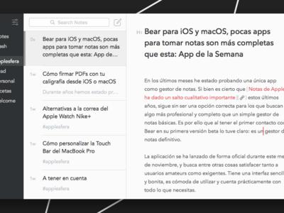 Bear para iOS y macOS, pocas apps para tomar notas son más completas que esta: App de la Semana
