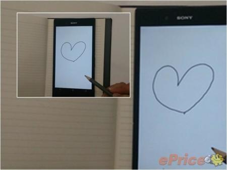Sony Xperia ZU con stylus