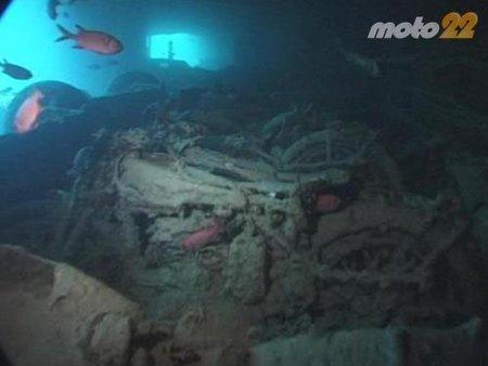 Las motos hundidas del SS Thistlegorm