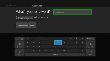 Xbox One Sign In Password