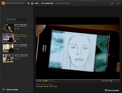 Adobe lanza su Media Player, visor de contenido online