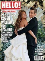 Robbie Williams feliz cual perdiz el día de su boda