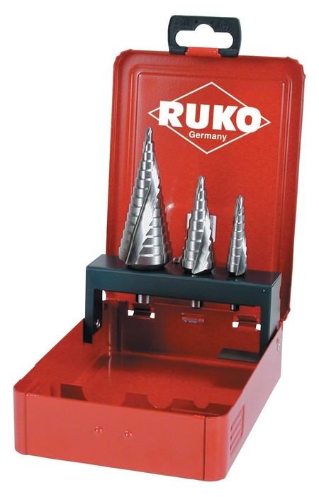 Juego de tres brocas escalonadas Ruko por 70,21 euros en Amazon con envío gratis