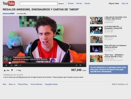 youtube feather interfaz