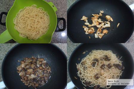 Espagueti Ajo Pasos