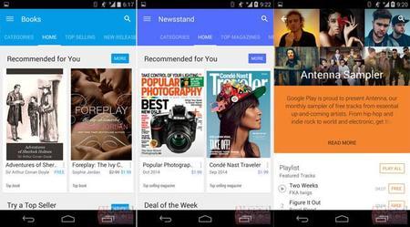 Así se verá la versión 5.0 de Google Play Store