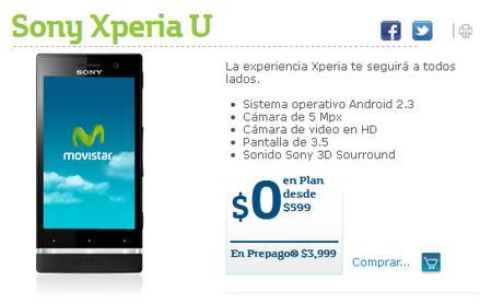Sony Xperia U con Movistar