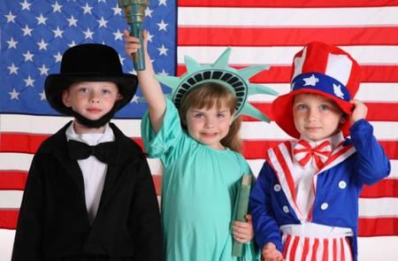 disfraz familia americana