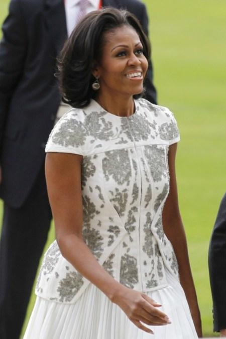 La polémica chaqueta de Michelle Obama