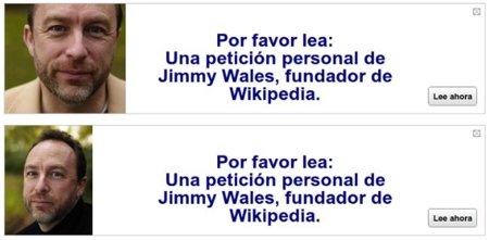 La imagen de la semana: Jimmy Wales pide tu apoyo para la Wikipedia