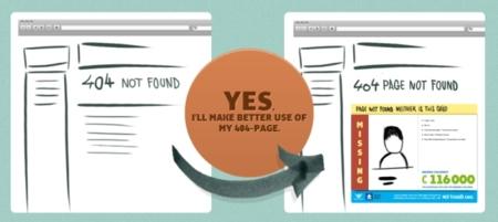 Notfound, proyecto que promueve un mejor uso de las páginas 404 mostrando información sobre niños desaparecidos