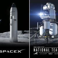 Elon Musk con SpaceX y Jeff Bezos con Blue Origin fabricarán las naves para que la NASA lleve humanos nuevamente a la Luna