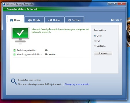 Microsoft Security Essentials ya está disponible para descarga