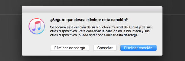 Apple Music eliminar canciones