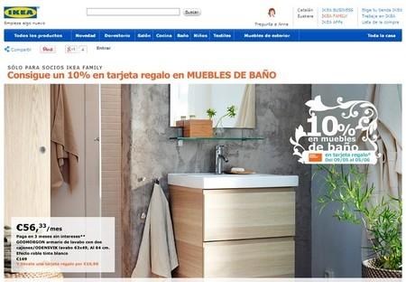 Consigue un 10% de regalo en muebles de baño IKEA