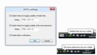 Usa atajos de teclado para mostrar archivos ocultos y extensiones en Windows con HiFiTo