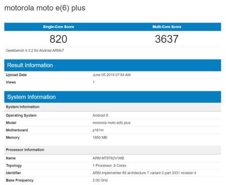 Motorola Moto E6 Plus Benchmark